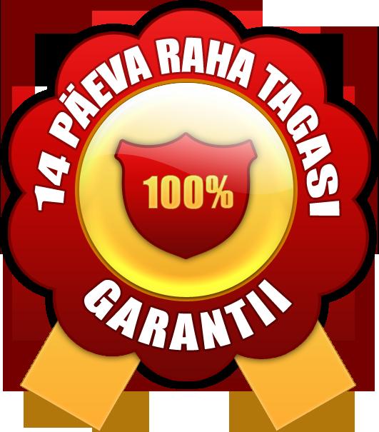 100% raha tagasi garantii
